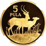 Золотая монета 5 Пул (5 Pula) Ботсвана