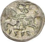 Серебряная монета Денарий Средневековой Литвы