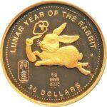 Золотая монета 30 Долларов Островов Кука