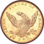 Золотая монета 2½ Dollars (2,5 доллара) США