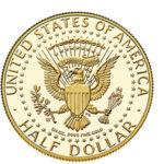 Золотая монета Half dollar (1/2 доллара) США