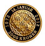 Золотая монета 3000 Крон (3000 Kroner) Дания