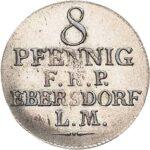 Серебряная монета 8 Пфеннигов (8 Pfennig) Германия