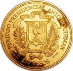 Золотая монета 250 Песо (250 Pesos) Доминикана