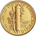 Золотая монета 1 Dime (1/10 доллара) США