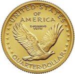 Золотая монета 1 Quarter (1/4 доллара) США