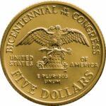Золотая монета 5 Dollars (5 долларов) США
