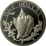 Серебряная монета 1 Доллар Багамы
