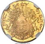 Золотая монета 50 Сантимов (50 Centimes) Камбоджа
