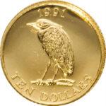 Золотая монета 10 долларов Бермудских островов
