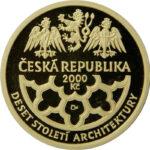 Золотая монета 2000 Крон (2000 Korun) Чехия