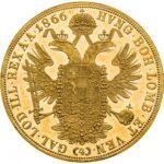 Золотая монета 4 дуката Австро-Венгрии