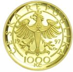 Золотая монета 1000 Крон (1000 Korun) Чехия