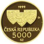 Золотая монета 5000 Крон (5000 Korun) Чехия