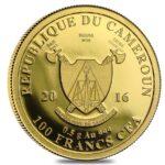 Золотая монета 100 Франков (100 Francs) Камеруна