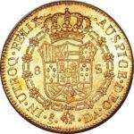 Золотая монета 8 Эскудо (8 Escudos) Чили