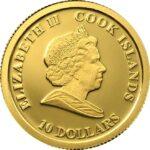 Золотая монета 10 Долларов Островов Кука