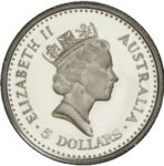 Платиновая монета 5 долларов Австралии