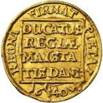 Золотая монета 1 Дукат (1 Ducat) Дания