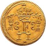 Золотая монета ½ Дуката Германия