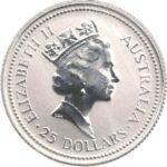 Платиновая монета 25 долларов Австралии