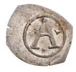 Серебряная монета Пфенниг Средневековой Германии