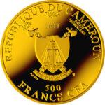 Золотая монета 500 Франков (500 Francs) Камеруна