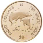 Золотая монета 8 Долларов Островов Кука