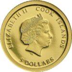 Золотая монета 5 Долларов Островов Кука