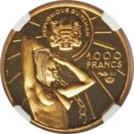 Золотая монета 1000 Франков (1000 Francs) Чад