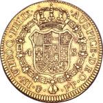 Золотая монета 4 эскудо (4 Escudos) Боливия