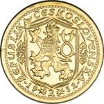 Золотая монета 2 Дуката (2 Dukáty) Чехословакия