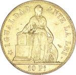 Золотая монета 10 Песо (10 Pesos) Чили
