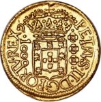 Золотая монета 1000 рейсов (1000 Réis) Бразилия