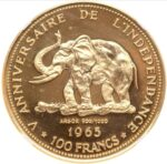 Золотая монета 100 Франков (100 Francs) Конго