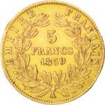 Золотая монета 5 Франков (5 Francs) Франция