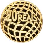 Золотая монета 20 Реалов (20 Reais) Бразилия
