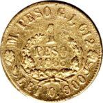 Золотая монета 1 Песо (1 Peso) Колумбия