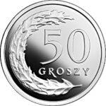 Серебряная монета 50 Грошей (50 Groszy) Польша