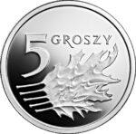 Серебряная монета 5 Грошей (5 Groszy) Польша