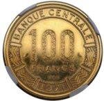 Золотая монета 100 Франков (100 Francs) ЦАР