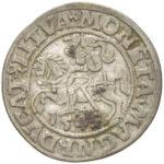 Серебряная монета Полугрош Средневековой Литвы