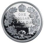 Серебряная монета 1 Доллар Канады