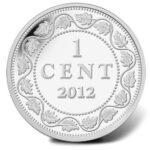 Серебряная монета 1 Цент Канады