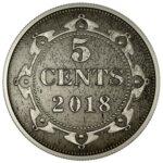 Серебряная монета 5 Центов Канады