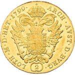 Золотая монета 2 дуката Австро-Венгрии