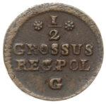 Медная монета Полугрош Средневековой Европы