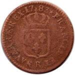 Медная монета Су Средневековой Европы