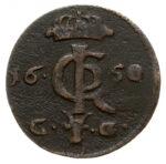 Медная монета Шеляг Средневековой Европы