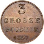 Медная монета 3 гроша Николая 1 (для Польши)